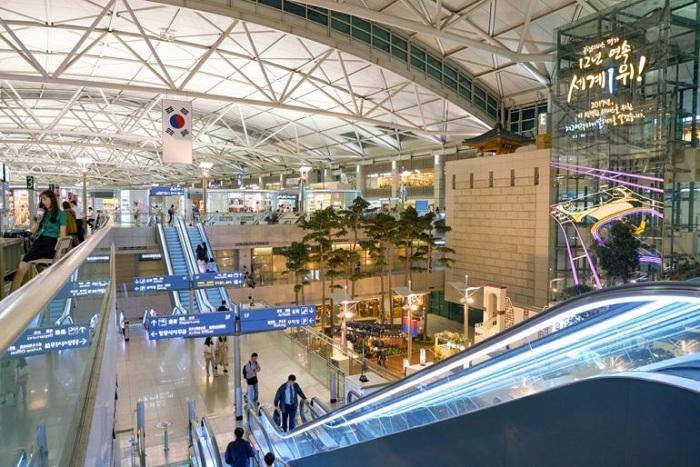 Top 10 sân bay tốt nhất thế giới năm 2021: sân bay Incheon