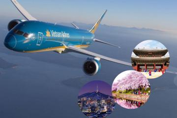 Review các hãng hàng không đi Hàn Quốc 'chuẩn' nhất